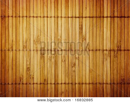 Wall from the tied up wooden planks