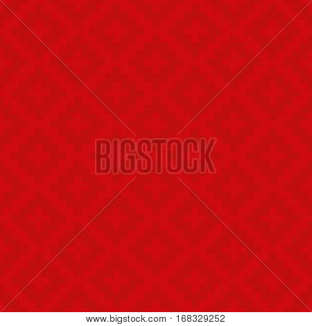 Red Squares Pixel Art Pattern. Checked Neutral Seamless Pattern for Modern Design in Flat Style. Tileable Geometric Vector Background.