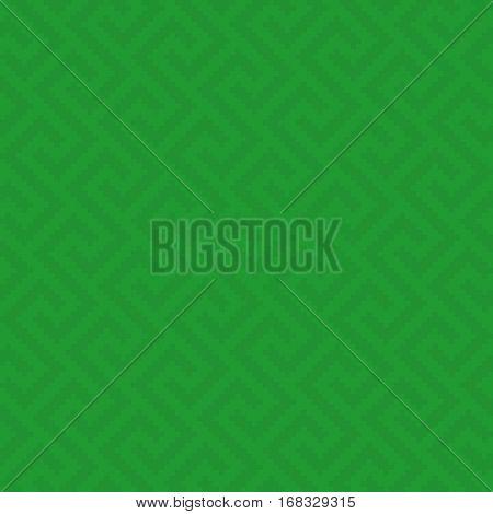Green Meander Pixel Art Pattern. Neutral Seamless Pattern for Modern Design in Flat Style. Tileable Greek Key Vector Background.