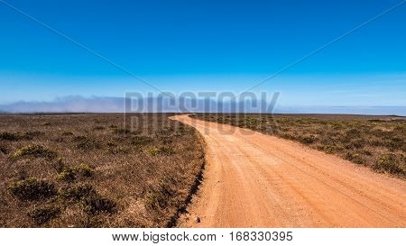 Portugal - Sand Road Through Country