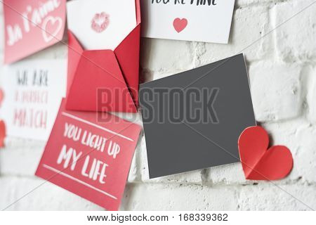 Love Letters Wall Valentines Concept