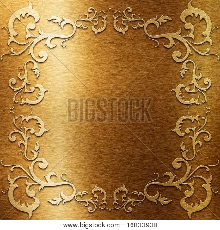 Gold metal plate with classic ornament (Very big collection)
