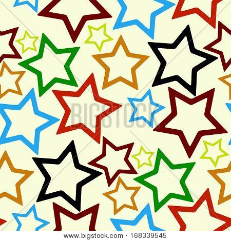 seamless stars pattern abstract texture vector art illustration