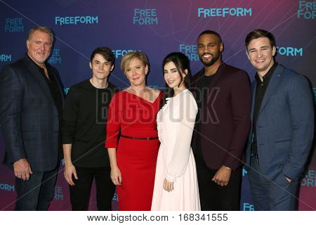 LOS ANGELES - JAN 10:  Michael McGrady, Jonthan Whitesell, Romy Rosemont, Dilan Gwyn, Jeff Pierre, Burkely Duffield at the ABC TV TCA  Party at Langham Hotel on January 10, 2017 in Pasadena, CA
