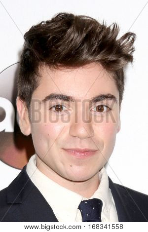 LOS ANGELES - JAN 10:  Noah Galvin at the Disney/ABC TV TCA Winter 2017 Party at Langham Hotel on January 10, 2017 in Pasadena, CA