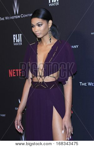 LOS ANGELES - JAN 8:  Chanel Iman at the Weinstein And Netflix Golden Globes After Party at Beverly Hilton Hotel Adjacent on January 8, 2017 in Beverly Hills, CA