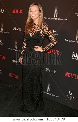 LOS ANGELES - JAN 8:  Nicole Lapin at the Weinstein And Netflix Golden Globes After Party at Beverly Hilton Hotel Adjacent on January 8, 2017 in Beverly Hills, CA