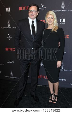 LOS ANGELES - JAN 8:  Bob Saget, Kelly Rizo at the Weinstein And Netflix Golden Globes After Party at Beverly Hilton Hotel Adjacent on January 8, 2017 in Beverly Hills, CA