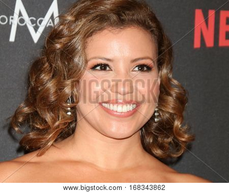 LOS ANGELES - JAN 8:  Justina Machado at the Weinstein And Netflix Golden Globes After Party at Beverly Hilton Hotel Adjacent on January 8, 2017 in Beverly Hills, CA