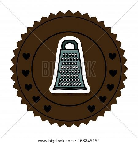 color round frame with grater vector illustration