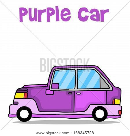 Purple car vector art illustration collection stock