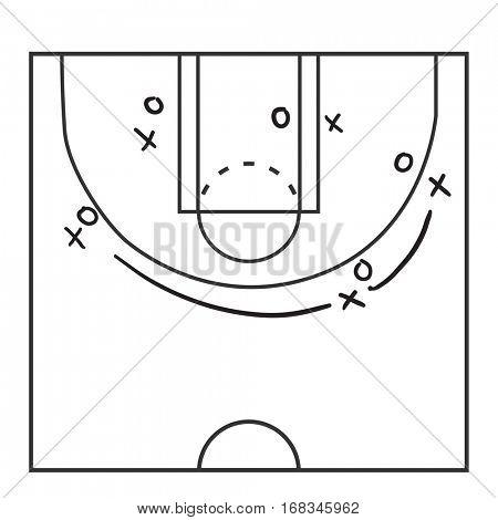 Basketball Playbook Illustration