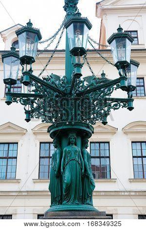 Prague, Czechia - November, 21, 2016: monument in a center of Prague, Czechia