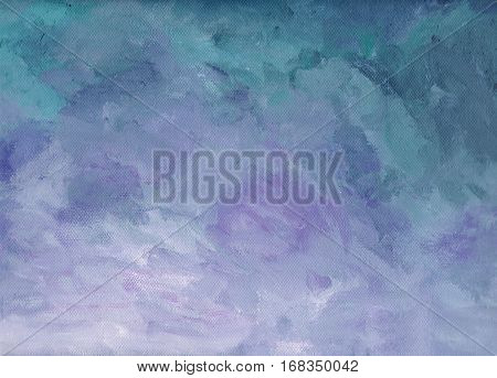 Acrylic purple/blue background structure suggests an upcoming sun
