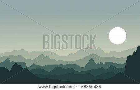 Illustration of desert landscape backgrounds collection stock