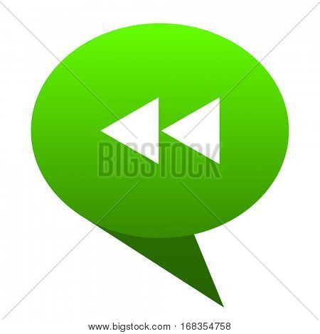 rewind green bubble web icon