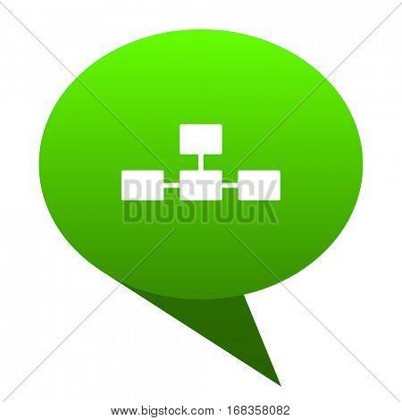 database green bubble web icon