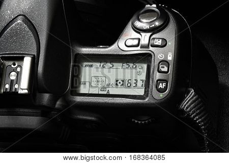 Digital camera for photography controls and dials