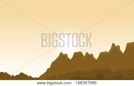 Landscape of cliff design vector flat collection stock