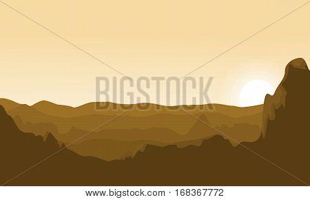 Desert landscape background vector art collection stock