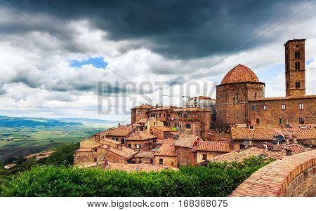 Ancient Center Of Village Volterra