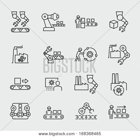Production vector icons