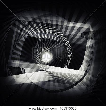 Spirals Pattern, Cg Optical Illusion