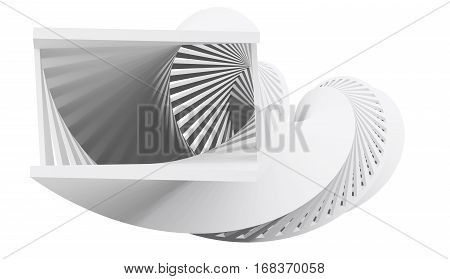 Abstract Helix Object Isolated On White