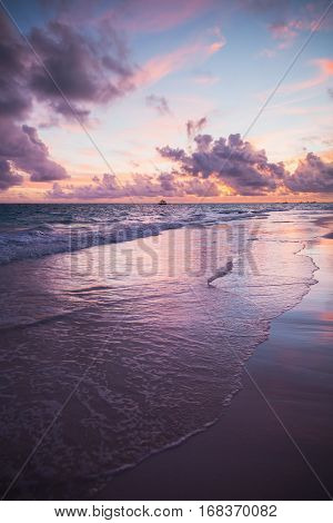 Sunrise Over The Ocean, Vertical Photo