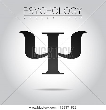 Modern logo of Psychology. Psi. Creative style. Logotype in vector. Design concept.