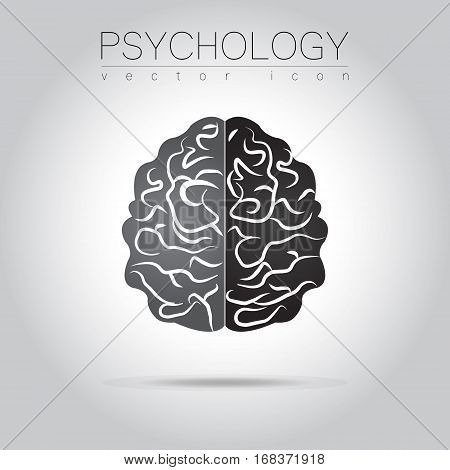 Modern Brain Sign of Psychology. Human. Creative style. Icon in vector. Design concept.
