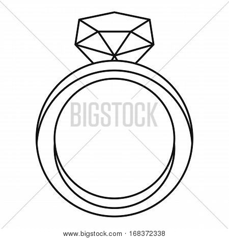 Ring icon. Outline illustration of ring vector icon for web
