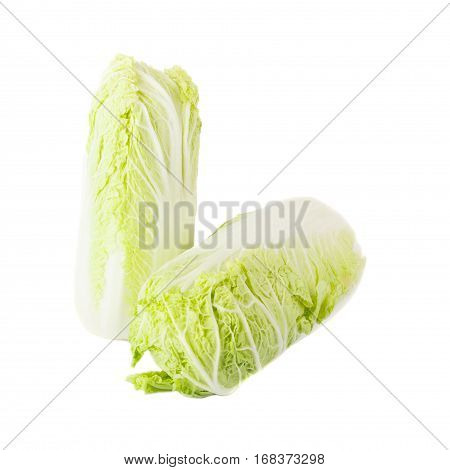 Fresh Light Green Napa Cabbage, Isolated