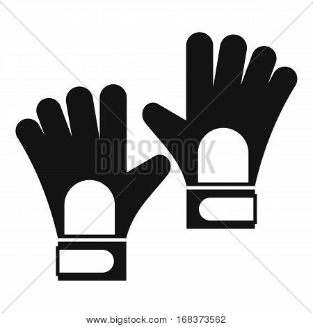 Gloves of goalkeeper icon. Simple illustration of gloves of goalkeeper vector icon for web