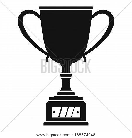 Winner cup icon. Simple illustration of winner cup vector icon for web