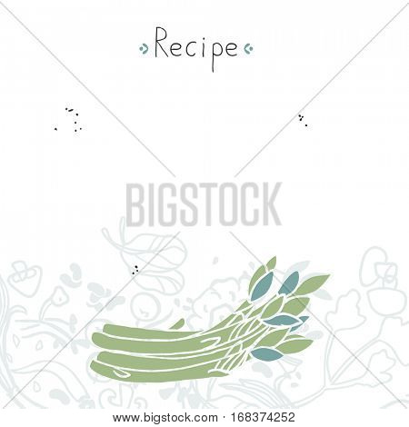 recipe template with asparagus