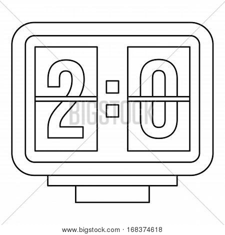 Scoreboard icon. Outline illustration of scoreboard vector icon for web