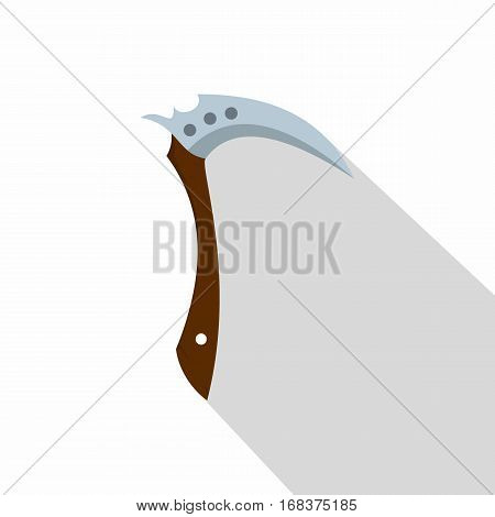 Japanese Kama weapon icon. Flat illustration of Japanese  kama weapon vector icon for web   on white background