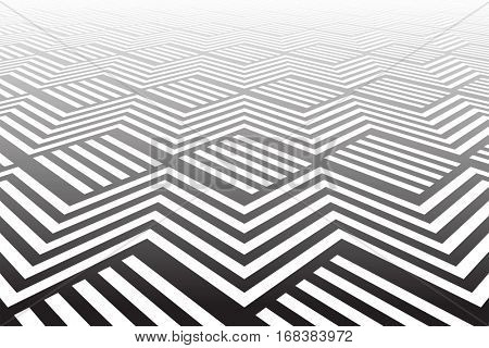 Abstract geometric background. 3D illusion. Vector art.