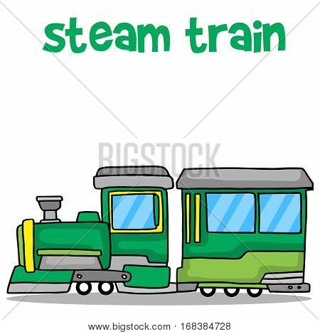 Collection stock of steam train transport vector art