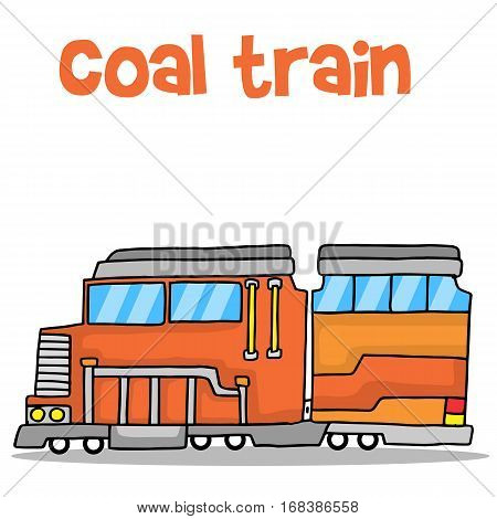 Transport of coal train vector art collection stock
