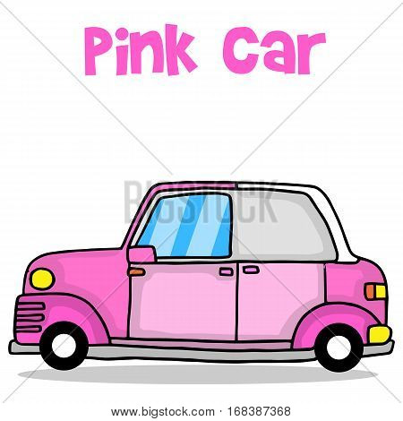 Transport of pink car vector illustration collection stock