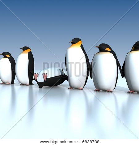 Fan penguins