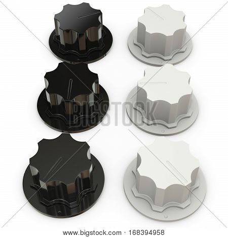 White Audio Volume Knobs