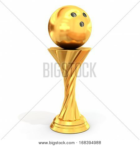Trophy With Bowling Ball