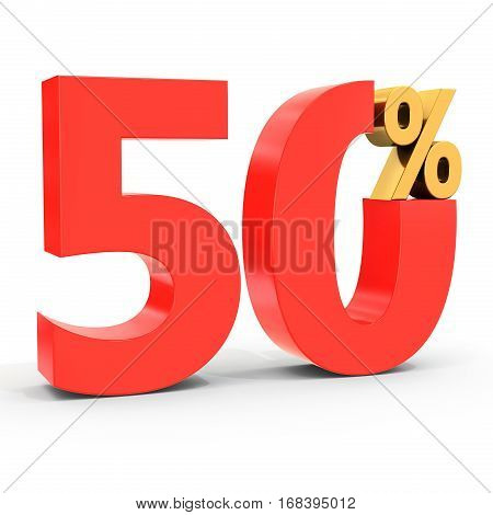 Red Sale Discount 50 Percent