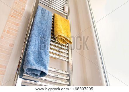 towel rail rack chrome modern bathroom heater
