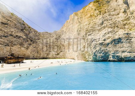 Navagio Beach With Shipwreck