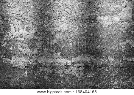 Rusty metal texture rusty metal background. Grunge retro vintage of rusty metal plate for design with copy space for text or image. Black and white