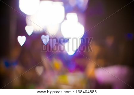 Abstract Heart Bokeh Blurred Valentine